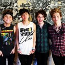 ** FIVE SECONDS OF SUMMER GROUP SIGNED PHOTO 8X10 RP AUTOGRAPHED 5SOS