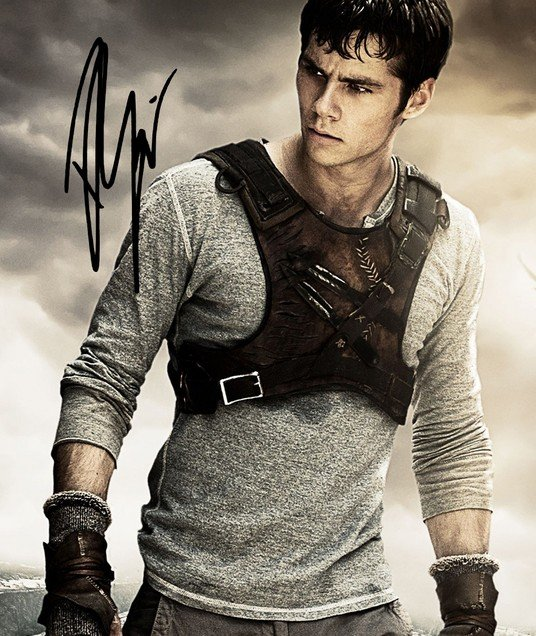 Dylan O Brien Signed Poster Photo 8x10 Rp Autographed