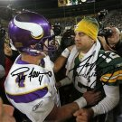 AARON RODGERS AND BRETT FAVRE SIGNED PHOTO 8X10 RP AUTOGRAPHED PACKERS *