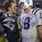PEYTON MANNING TOM BRADY SIGNED PHOTO 8X10 RP AUTOGRAPHED COLTS PATRIOTS