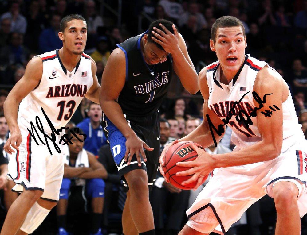 AARON GORDON NICK JOHNSON SIGNED PHOTO 8X10 RP AUTOGRAPHED  Arizona Basketball