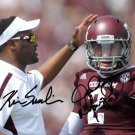 JOHNNY MANZIEL & KEVIN SUMLIN SIGNED PHOTO 8X10 RP AUTOGRAPHED TEXAS A&M AGGIES