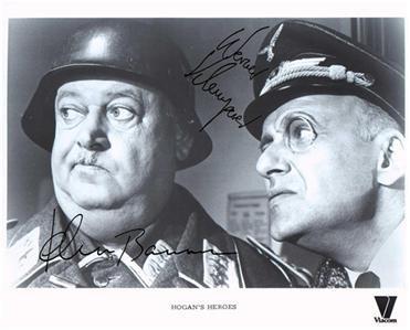 JOHN BANNER WERNER KLEMPERER SIGNED PHOTO 8X10 RP AUTOGRAPHED HOGAN'S HEROES CAST
