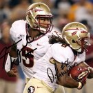JAMEIS WINSTON & DEVONTA FREEMAN SIGNED PHOTO 8X10 RP AUTOGRAPHED SEMINOLES