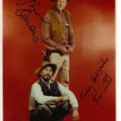 KEN KURTIS & JAMES ARNESS SIGNED PHOTO 8X10 RP AUTOGRAPHED GUNSMOKE CAST