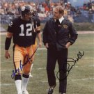 * CHUCK NOLL & TERRY BRADSHAW DUAL SIGNED PHOTO 8X10 RP AUTOGRAPHED  * STEELERS