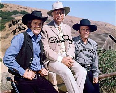 THE VIRGINIAN CAST SIGNED PHOTO 8X10 RP AUTOGRAPHED JAMES DRURY DOUG MCCLURE