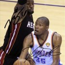 KEVIN DURANT LEBRON JAMES SIGNED PHOTO 8X10 RP AUTOGRAPHED NBA BASKETBALL