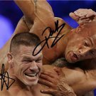 JOHN CENA & THE ROCK DUAL SIGNED PHOTO 8X10 RP AUTOGRAPHED ** WWE WRESTLING