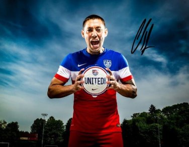 CLINT DEMPSEY SIGNED POSTER PHOTO 8X10 RP AUTOGRAPHED WORLD CUP SOCCER