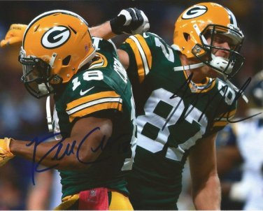 JORDY NELSON & RANDALL COBB SIGNED PHOTO 8X10 RP AUTOGRAPHED GREEN BAY PACKERS