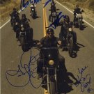 SONS OF ANARCHY AUTOGRAPHED SIGNED 8X10 RP PHOTO CHARLIE HUNNAM AND CAST
