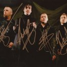 THREE DAYS GRACE BAND SIGNED PHOTO 8X10 RP AUTOGRAPHED