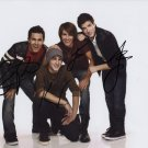 BIG TIME RUSH GROUP BAND SIGNED PHOTO 8X10 RP AUTOGRAPHED VIC FUENTES