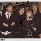 PARAMORE GROUP BAND SIGNED AUTOGRAPHED PHOTO RP 8X10 AUTOGRAPH HAYLEY WILLIAMS