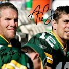 BRETT FAVRE AARON RODGERS SIGNED PHOTO 8X10 RP AUTO * GREEN BAY  AUTOGRAPHED