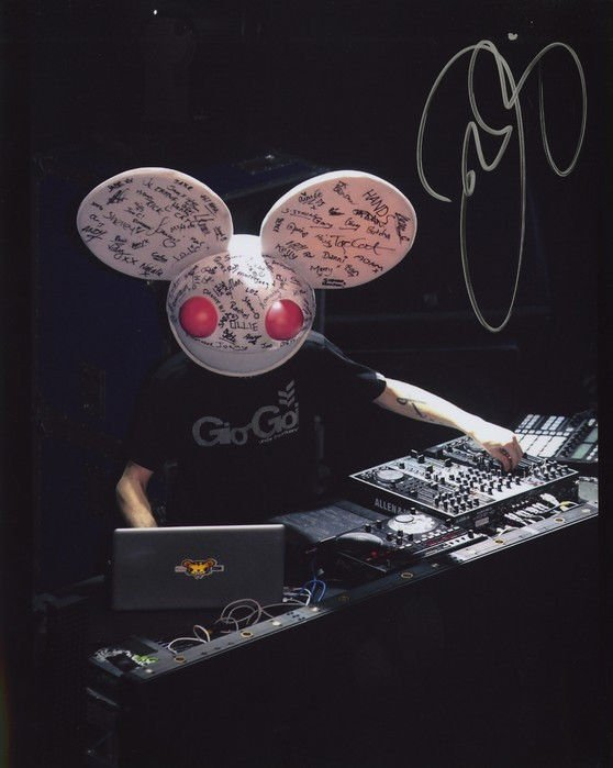 DEADMAU5 SIGNED PHOTO 8X10 RP AUTOGRAPHED HEAD IN