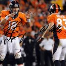 WES WELKER PEYTON MANNING SIGNED PHOTO 8X10 RP AUTO * DENVER BRONCOS AUTOGRAPHED