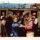 Gunsmoke Cast signed photo 8x10 rp Autographed James Arness Amanda Blake + more