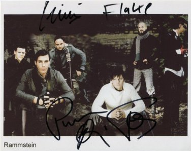 RAMMSTEIN BAND GROUP SIGNED POSTER PHOTO 8X10 RP AUTOGRAPHED MUTTER