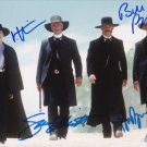 VAL KILMER KURT RUSSELL SAM ELLIOT SIGNED PHOTO 8X10 RP AUTOGRAPH TOMBSTONE CAST