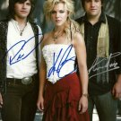THE BAND PERRY GROUP SIGNED POSTER PHOTO 8X10 RP AUTOGRAPHED PIONEER CHAINSAW