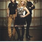 * THE BAND PERRY GROUP SIGNED POSTER PHOTO 8X10 RP AUTOGRAPHED PIONEER CHAINSAW