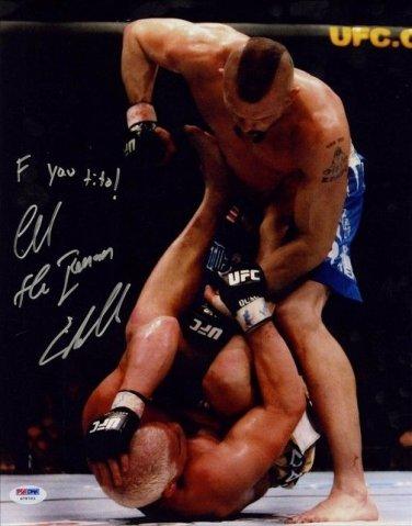 CHUCK LIDDELL SIGNED PHOTO 8X10 RP MMA FIGHTER AUTOGRAPHED vs. TITO ORTIZ