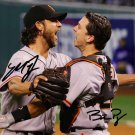 * MADISON BUMGARNER & BUSTER POSEY SIGNED PHOTO 8X10 AUTOGRAPHED * GIANTS BASEBALL