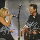 Blake Shelton & Miranda Lambert signed photo 8x10 rp Autographed Platinum