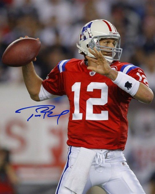 Tom Brady signed photo 8x10 rp autographed New England Patriots
