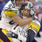 BEN ROETHLISBERGER HINES WARD SIGNED PHOTO 8X10 RP AUTOGRAPHED PITTSBURGH STEELERS