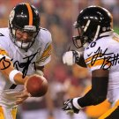 LE'VEON BELL & BEN ROETHLISBERGER SIGNED PHOTO 8X10 RP AUTOGRAPHED LEVEON PITTSBURGH STEELERS