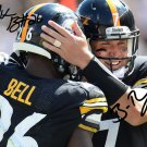 LE'VEON BELL BEN ROETHLISBERGER SIGNED PHOTO 8X10 RP AUTOGRAPHED PITTSBURGH STEELERS