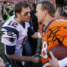 TOM BRADY & PEYTON MANNING SIGNED PHOTO 8X10 RP AUTOGRAPHED BRONCOS PATRIOTS