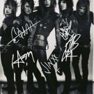 ANDY BIERSACK SIGNED PHOTO 8X10 RP AUTOGRAPHED BLACK VEIL BRIDES FULL BAND