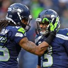 RICHARD SHERMAN & RUSSELL WILSON SIGNED PHOTO 8X10 RP AUTOGRAPHED SEATTLE SEAHAWKS FOOTBALL !
