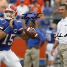 TIM TEBOW URBAN MEYER SIGNED PHOTO 8X10 RP AUTOGRAPHED FLORIDA GATORS FOOTBALL !