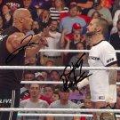 THE ROCK & CM PUNK SIGNED PHOTO 8X10 AUTOGRAPHED DWAYNE JOHNSON WWE WRESTLING