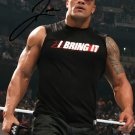 THE ROCK SIGNED PHOTO 8X10 AUTOGRAPHED DWAYNE JOHNSON WWE WRESTLING