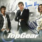 JEREMY CLARKSON, RICHARD HAMMOND & JAMES MAY TOP GEAR CAST SIGNED PHOTO 8X10 RP AUTOGRAPHED GROUP