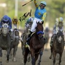 """VICTOR ESPINOZA """" AMERICAN PHAROAH """" SIGNED PHOTO 8X10 RP AUTOGRAPHED KENTUCKY DERBY"""
