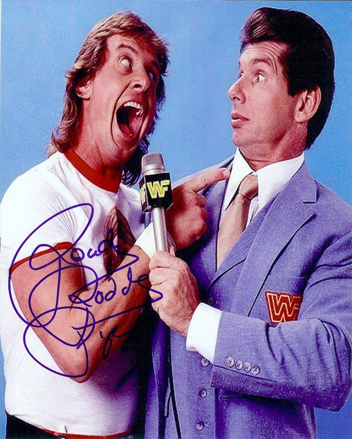 """"""" ROWDY """" RODDY PIPER SIGNED PHOTO 8X10 RP AUTOGRAPHED WWE WWF WRESTLING"""
