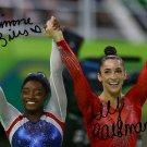 * SIMONE BILES ALY RAISMAN SIGNED PHOTO 8X10 RP AUTOGRAPHED 2016 RIO OLYMPICS