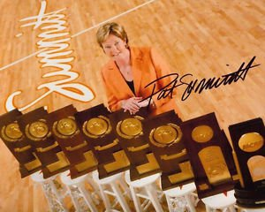 PAT SUMMITT SIGNED PHOTO 8X10 RP AUTO AUTOGRAPHED TENNESSEE LADY VOLS