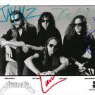 METALLICA FULL BAND SIGNED PHOTO 8X10 RP AUTOGRAPHED ALL MEMBERS HARDWIRED !
