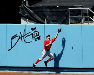 """BRYCE HARPER SIGNED PHOTO 8X10 RP AUTOGRAPHED WASHINGTON NATIONALS """" THE CATCH """""""
