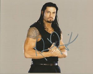 * ROMAN REIGNS SIGNED PHOTO 8X10 RP AUTOGRAPHED WWE WRESTLING THE SHIELD