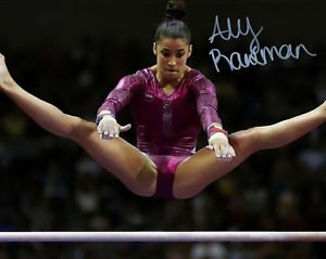 * ALY RAISMAN SIGNED PHOTO 8X10 RP AUTOGRAPHED U.S. OLYMPIC GYMNASTICS TEAM