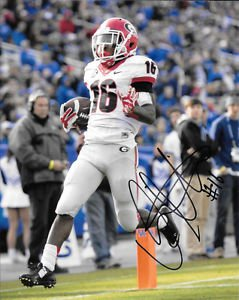 ISAIAH McKENZIE SIGNED PHOTO 8X10 RP AUTOGRAPHED GEORGIA BULLDOGS FOOTBALL !